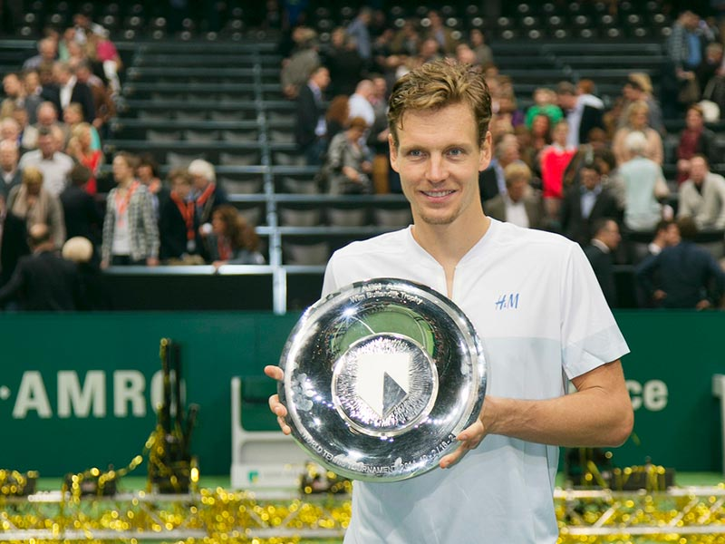 Tomas Berdych verdedigt titel ABN AMRO World Tennis Tournament
